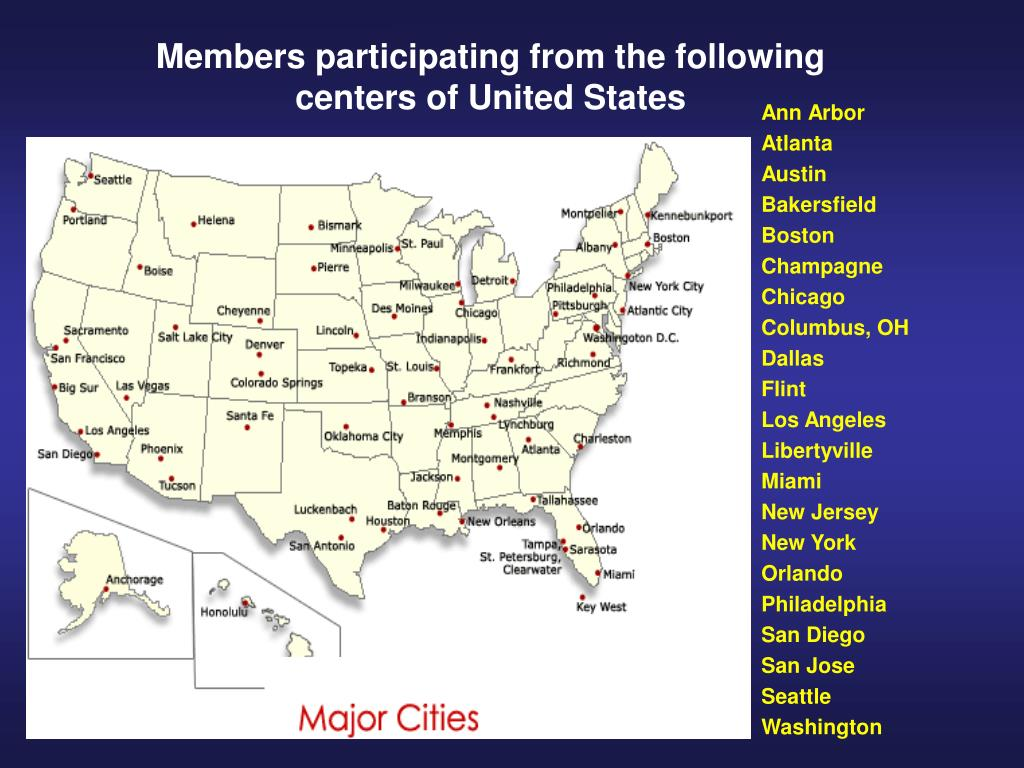 Members participating from the following