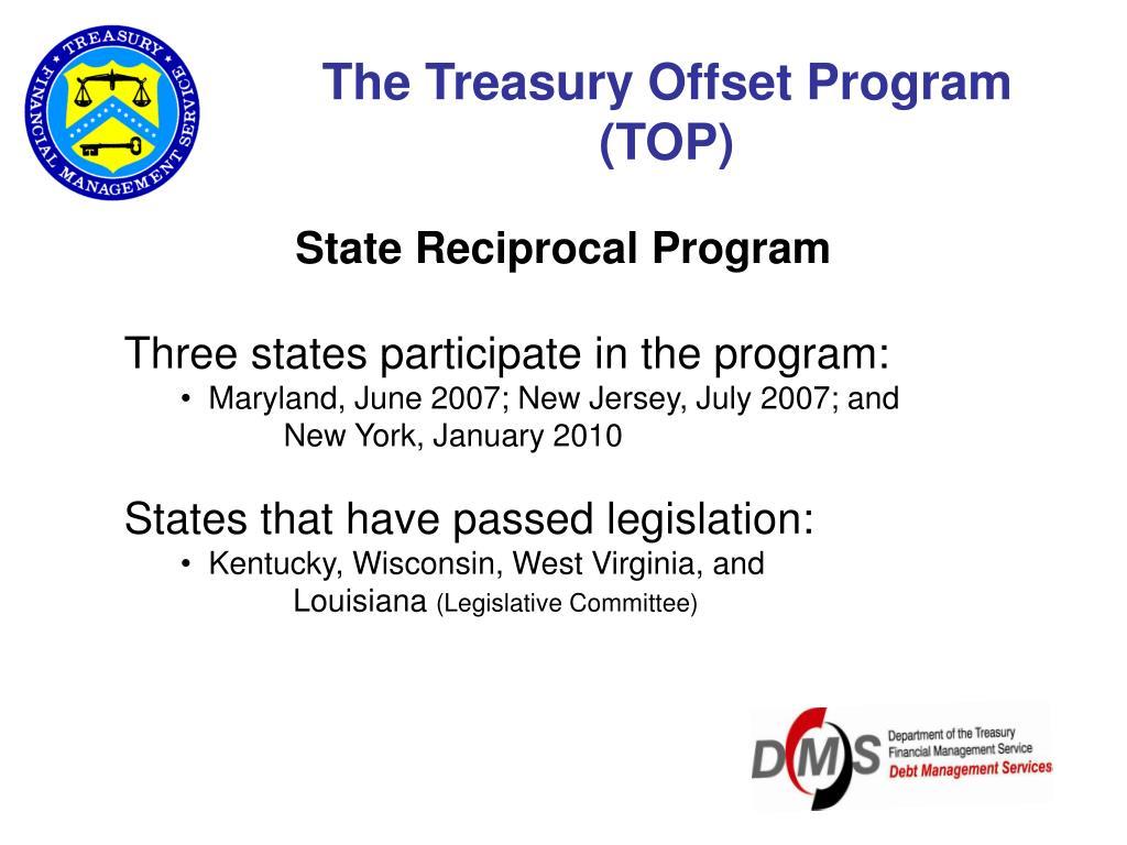 The Treasury Offset Program (TOP)