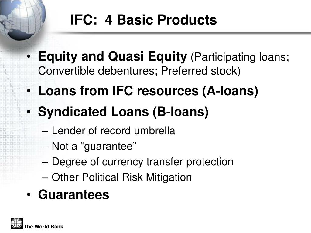 IFC:  4 Basic Products