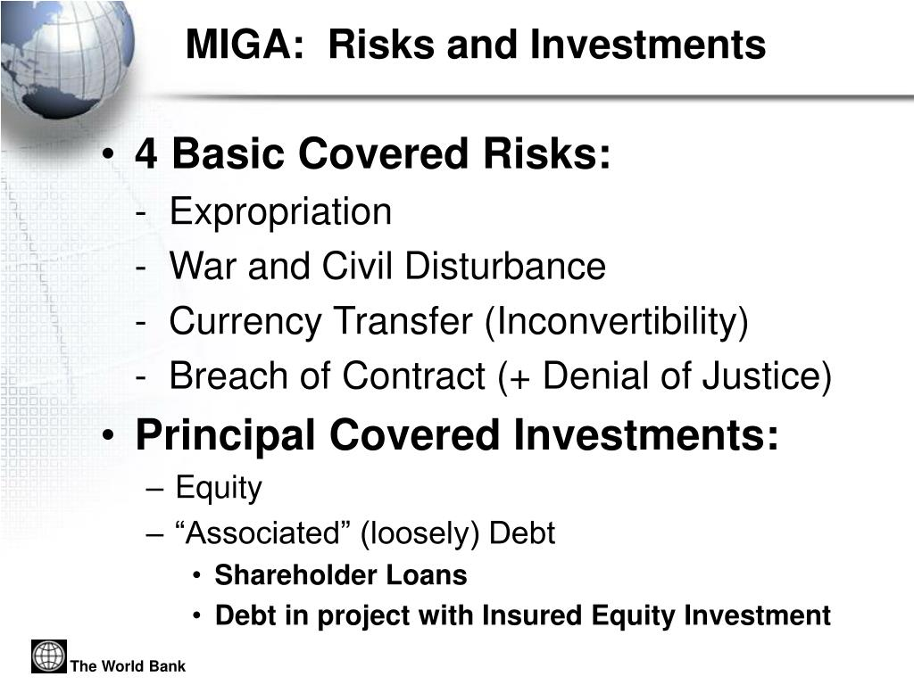 MIGA:  Risks and Investments