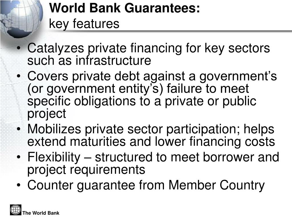 World Bank Guarantees: