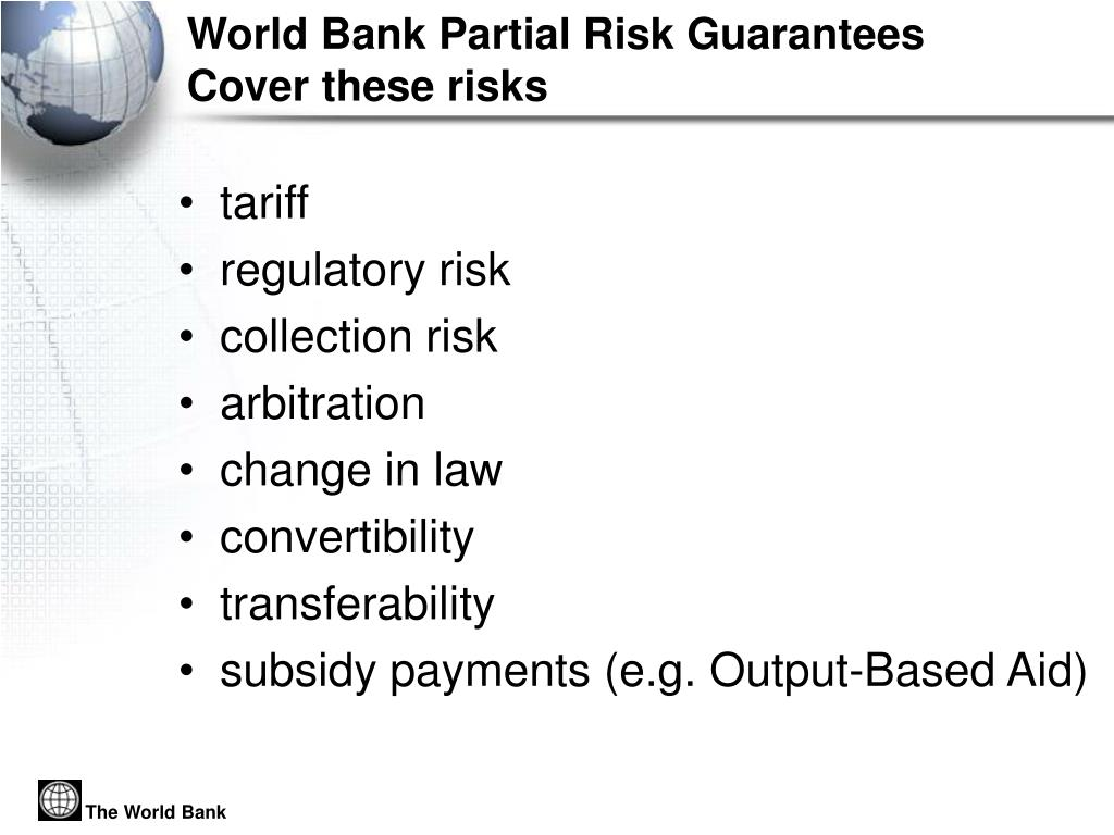 World Bank Partial Risk Guarantees