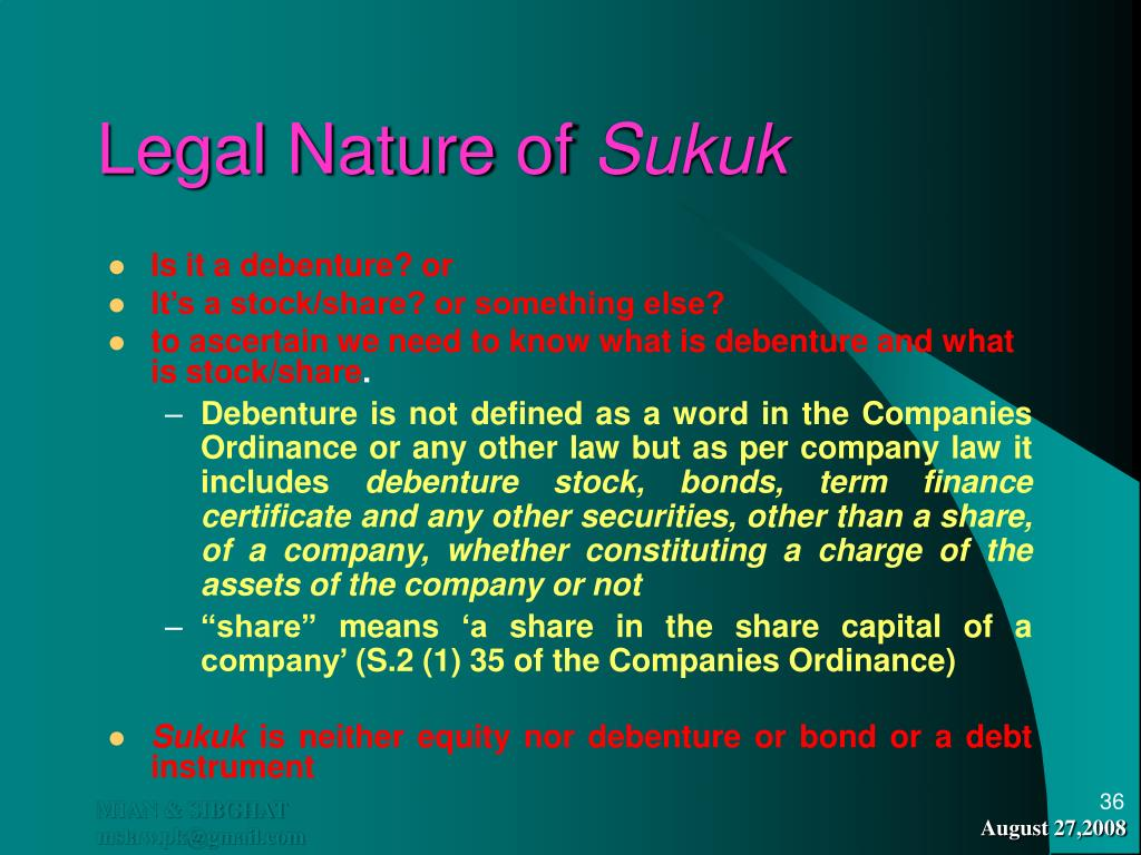 Legal Nature of