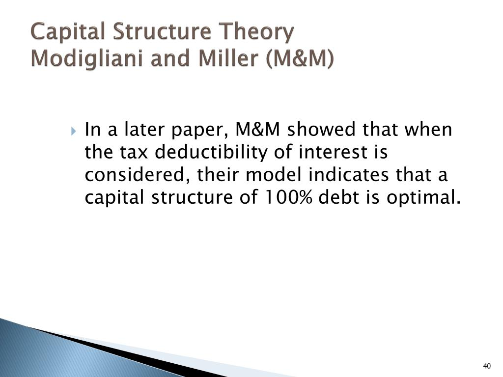 Capital Structure Theory