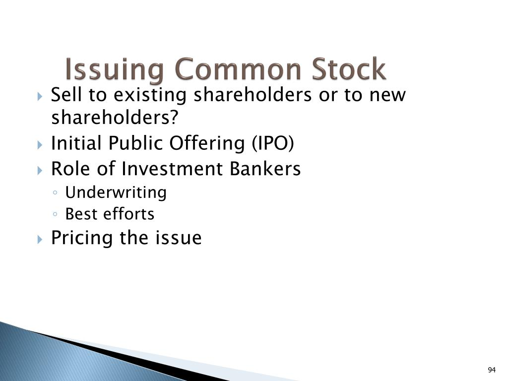 Issuing Common Stock