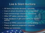 live silent auctions