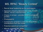ms rpac beauty contest