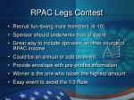 rpac legs contest