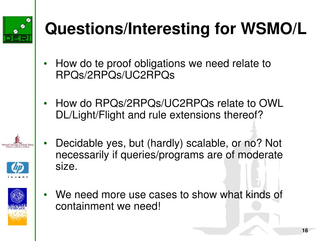 Questions/Interesting for WSMO/L