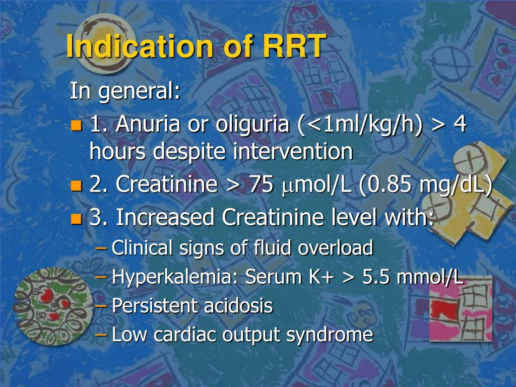 Indication of RRT