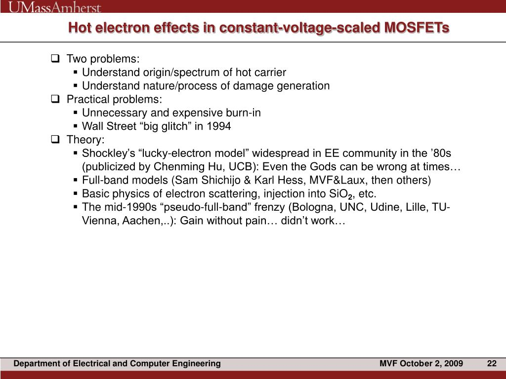 Hot electron effects in constant-voltage-scaled MOSFETs