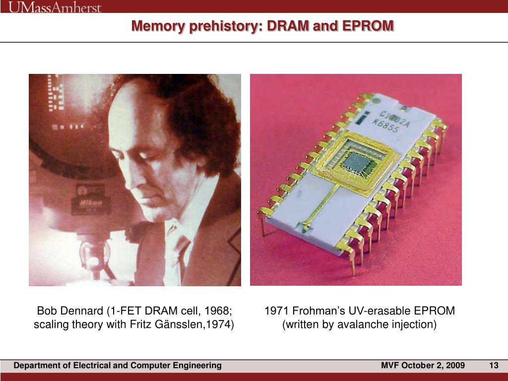 Memory prehistory: DRAM and EPROM