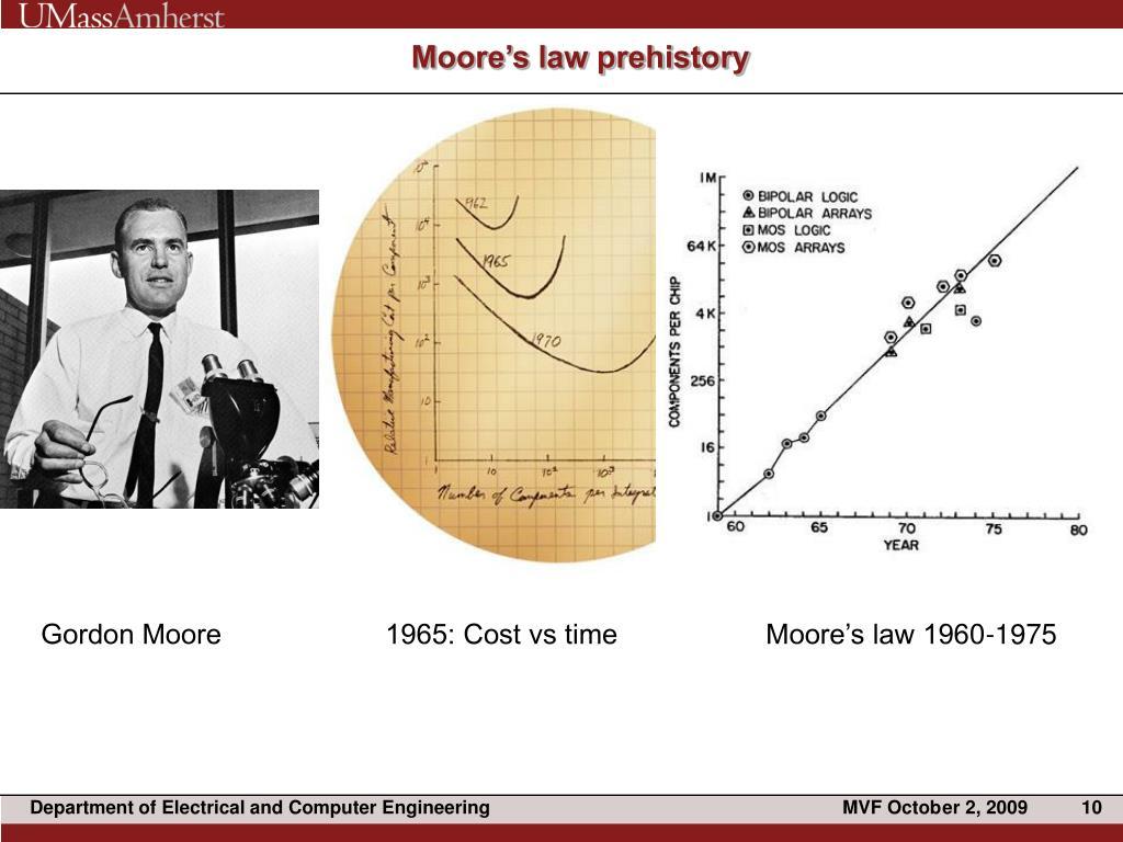 Moore's law prehistory