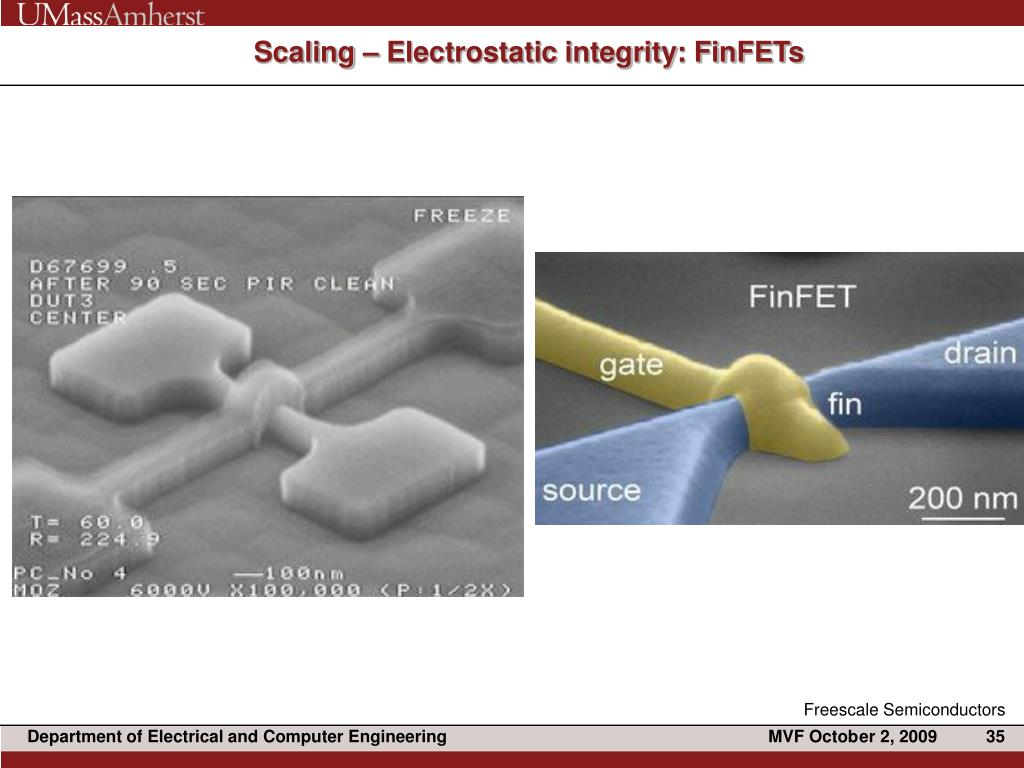 Scaling – Electrostatic integrity: FinFETs