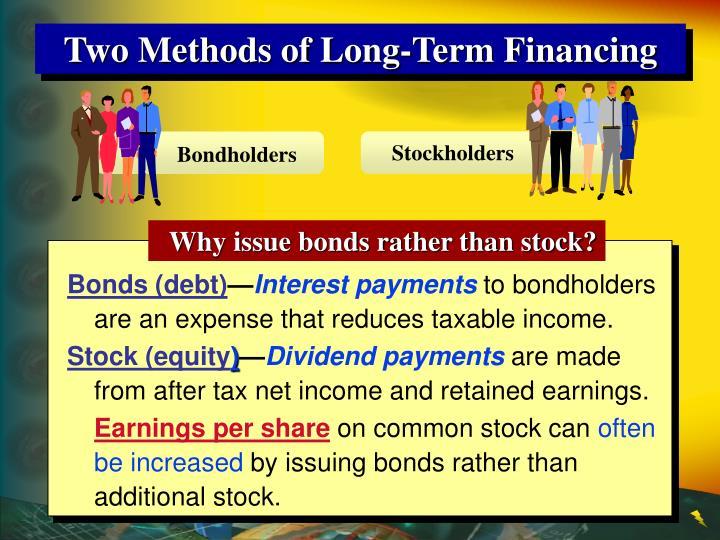 Two Methods of Long-Term Financing