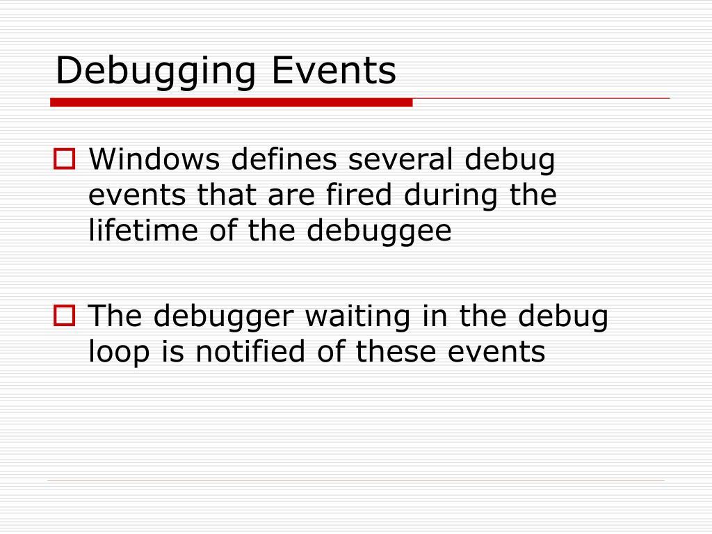 Debugging Events