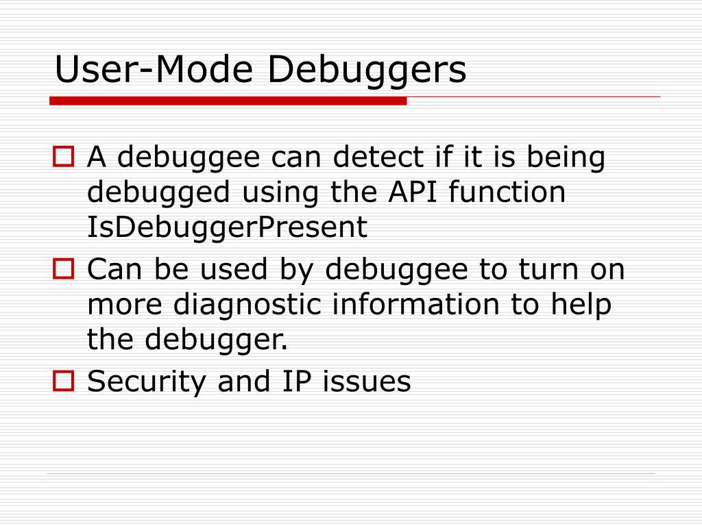 User-Mode Debuggers