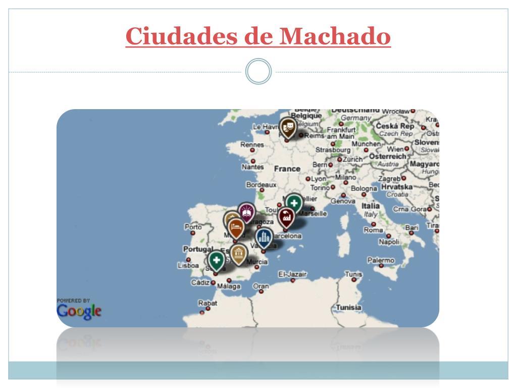 Ciudades de Machado