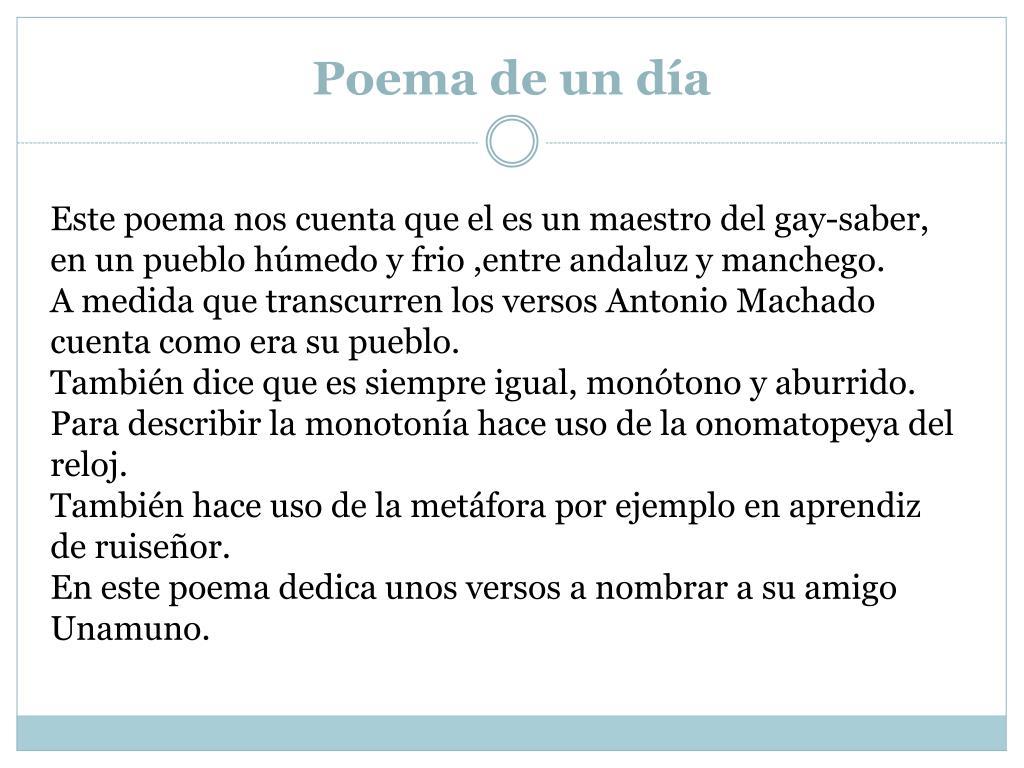 Poema de un día