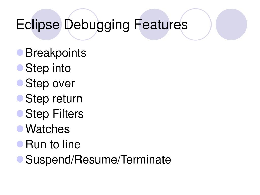 Eclipse Debugging Features
