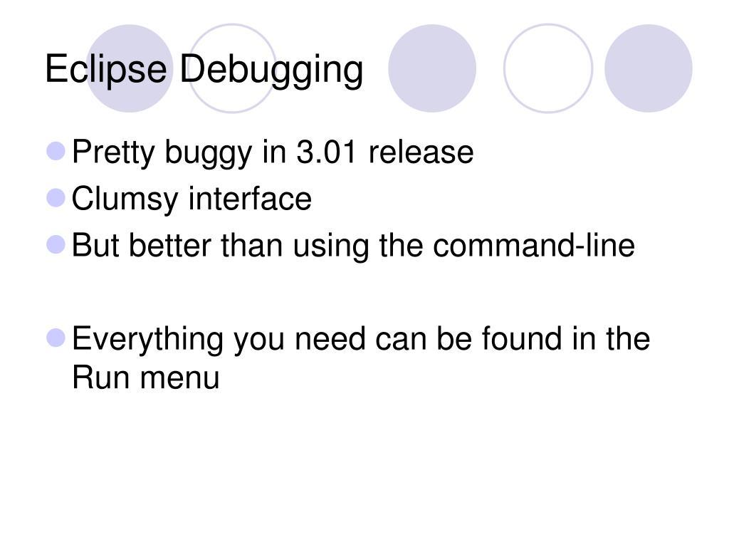 Eclipse Debugging