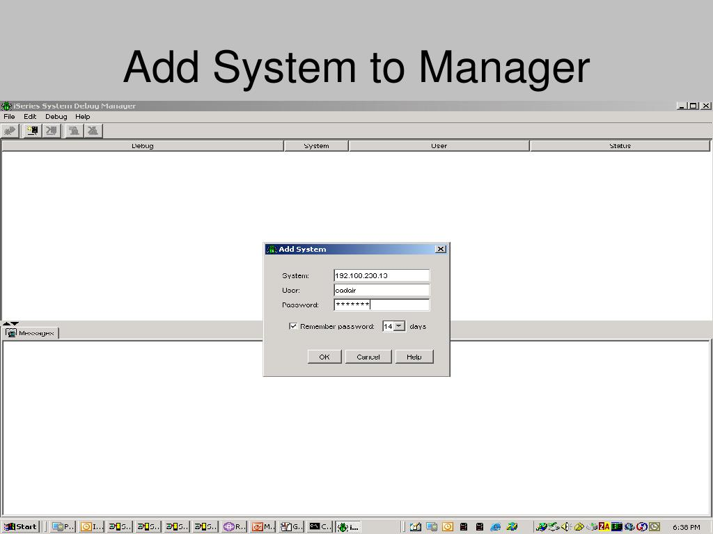 Add System to Manager