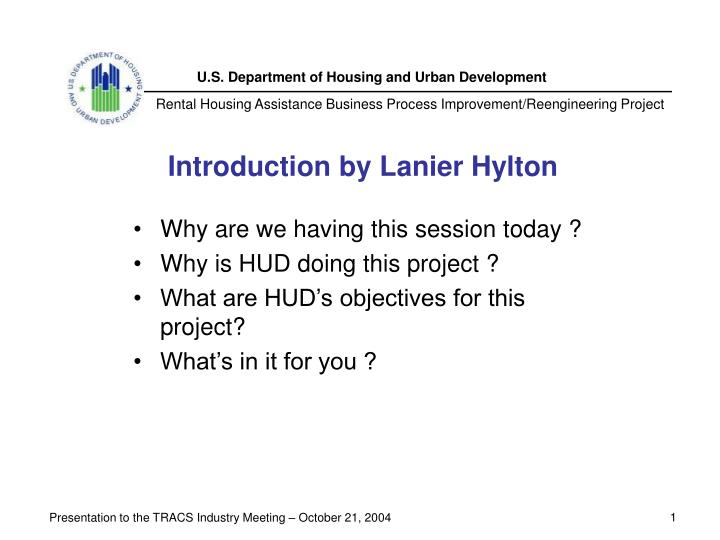 Introduction by Lanier Hylton