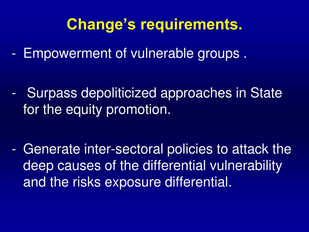 Change's requirements.