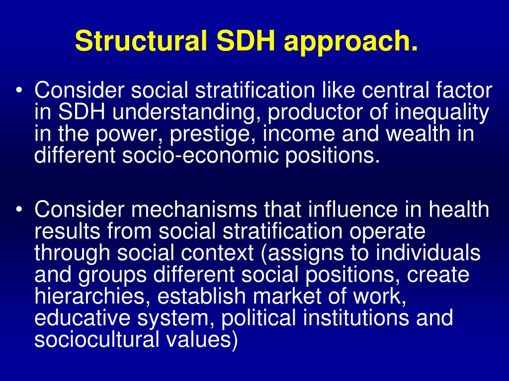 Structural SDH approach.