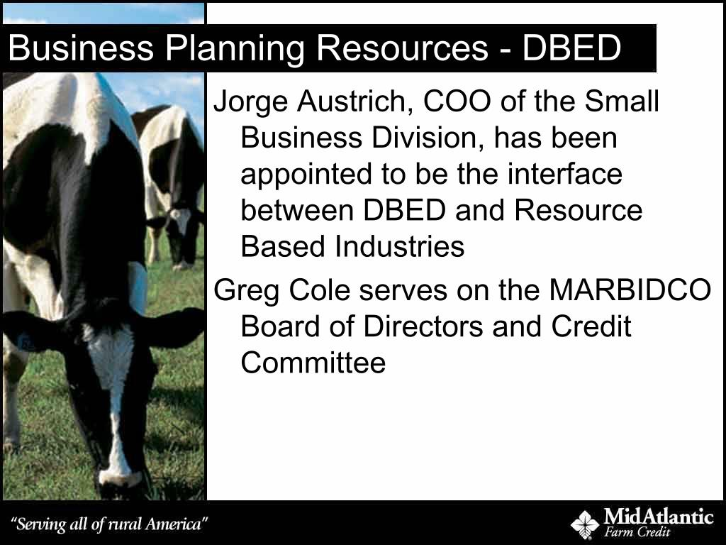 Business Planning Resources - DBED