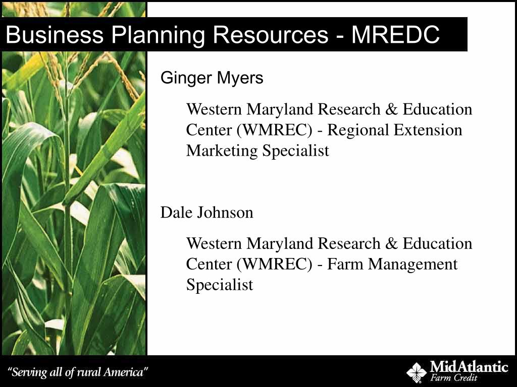 Business Planning Resources - MREDC