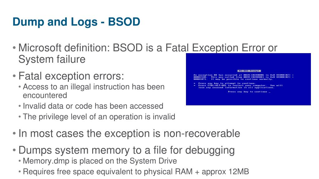 Dump and Logs - BSOD