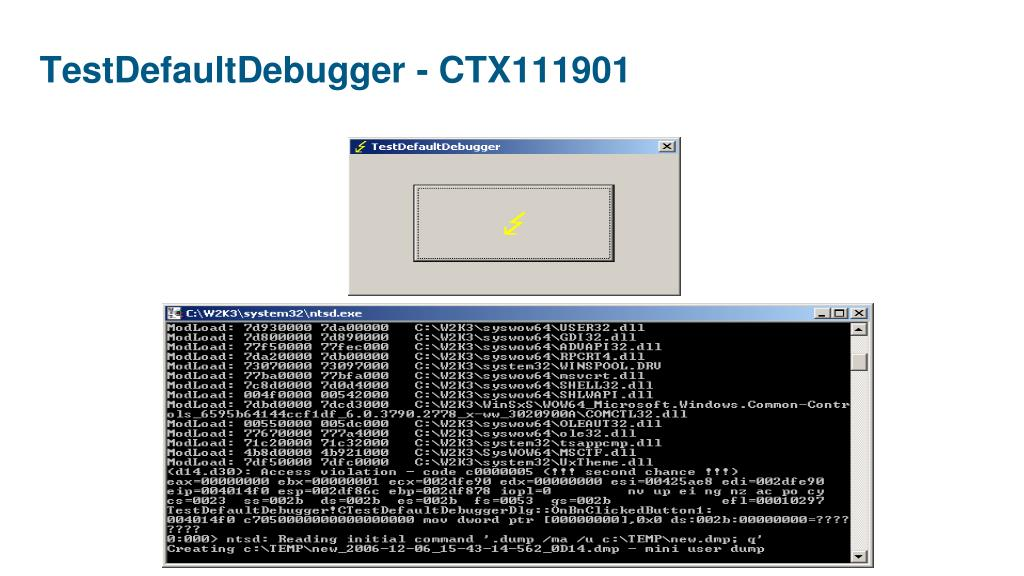 TestDefaultDebugger -