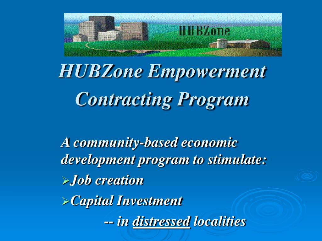 HUBZone Empowerment Contracting Program