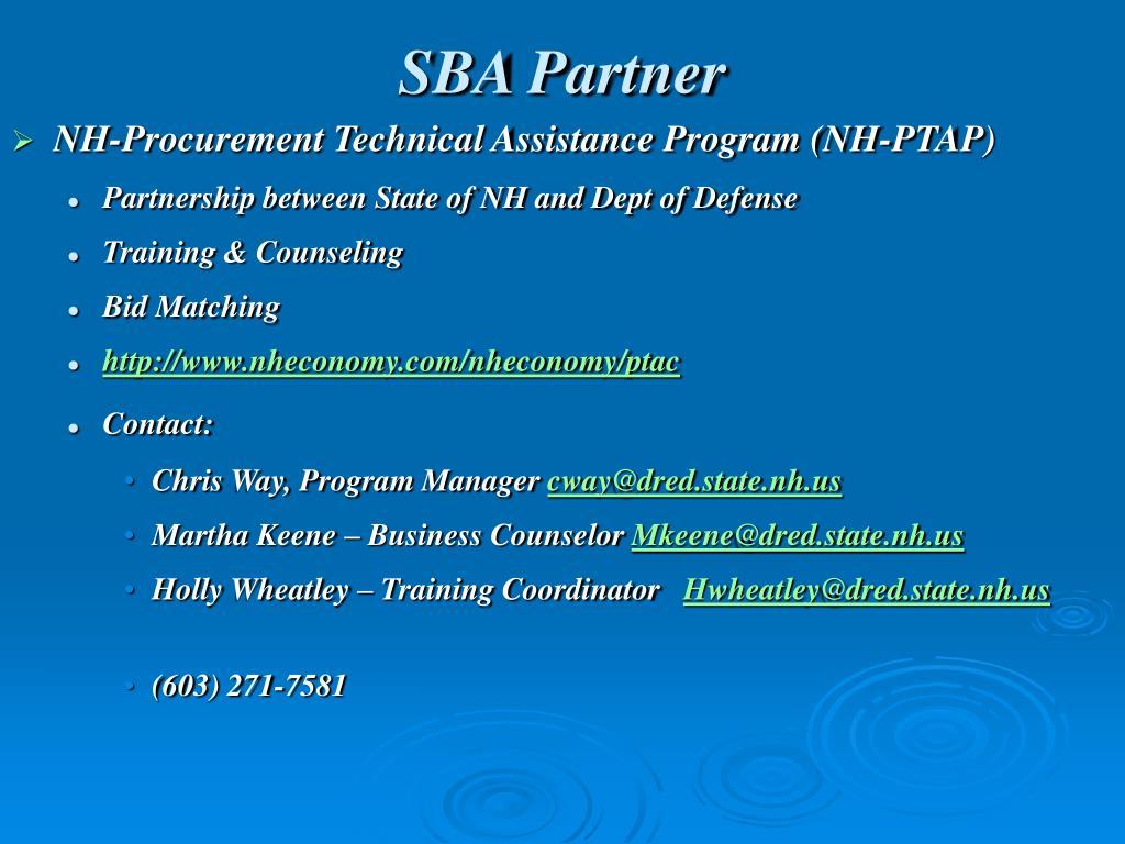 SBA Partner