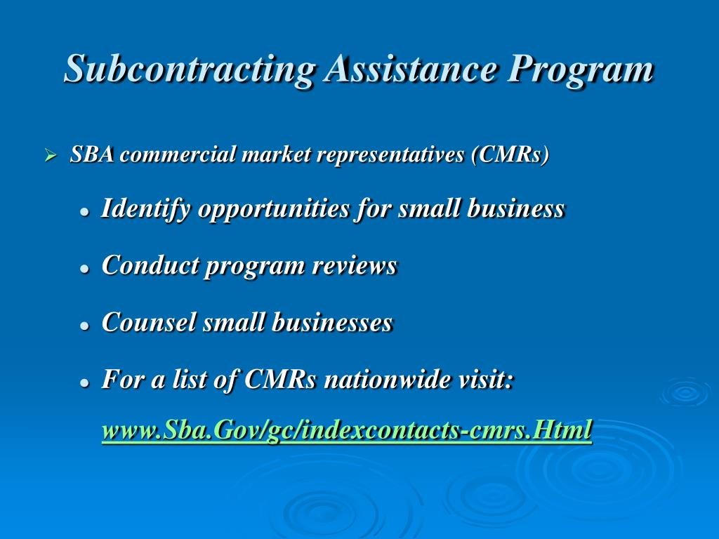 Subcontracting Assistance Program