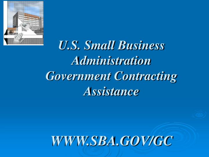 U s small business administration government contracting assistance www sba gov gc
