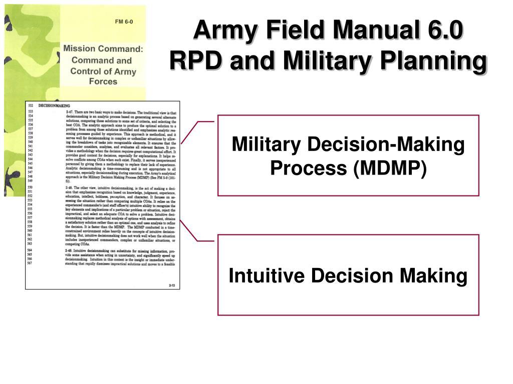 Army Field Manual 6.0