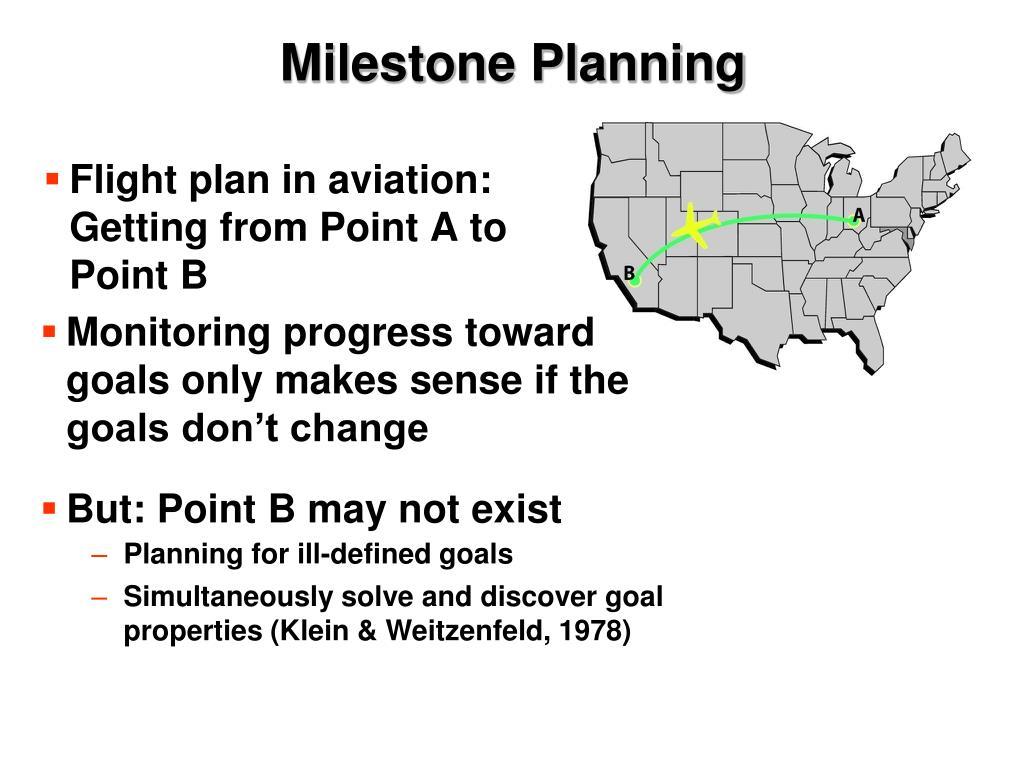 Milestone Planning