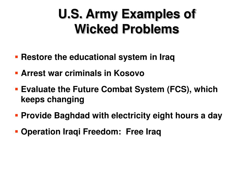 U.S. Army Examples of