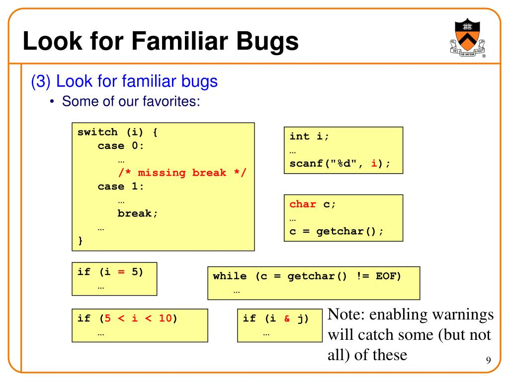 Look for Familiar Bugs