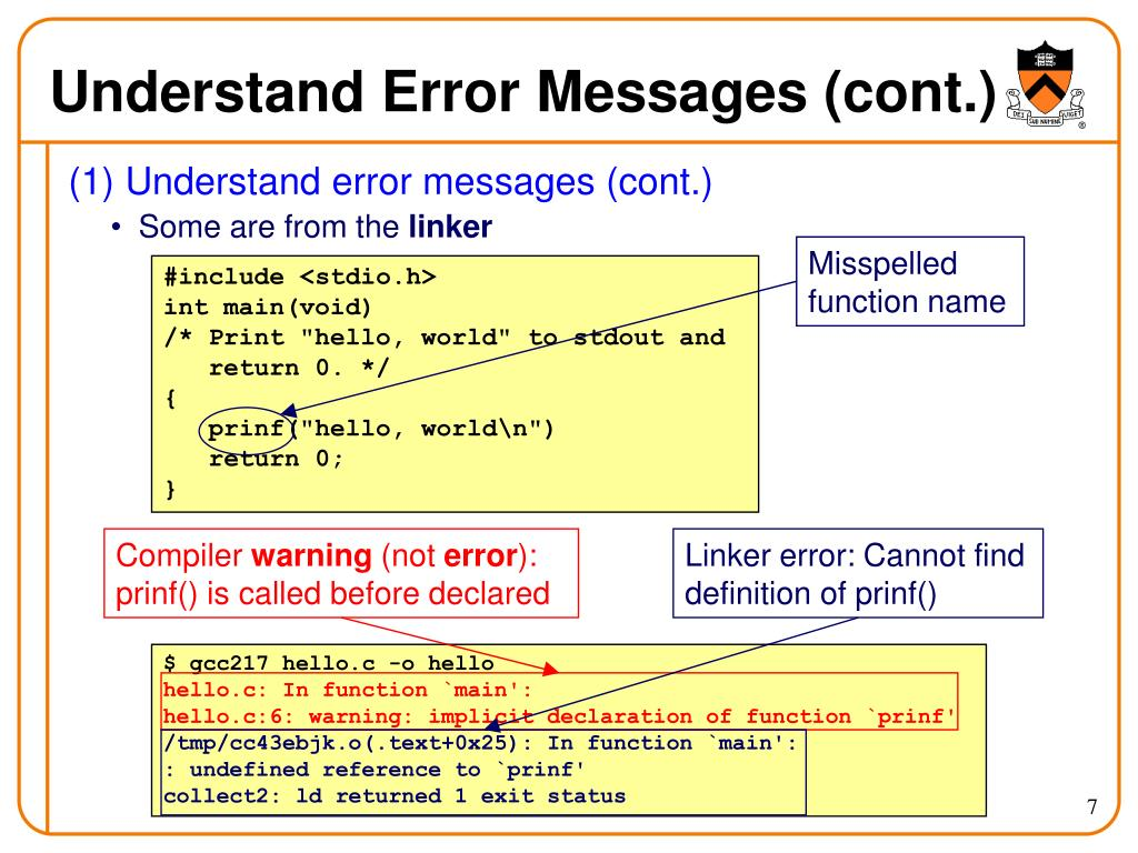Understand Error Messages (cont.)
