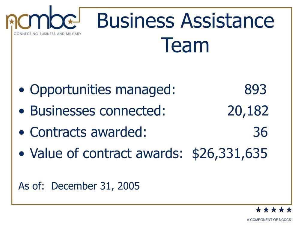 Business Assistance Team