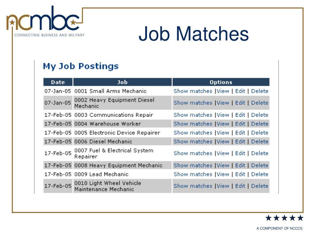 Job Matches