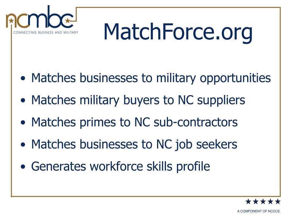 MatchForce.org
