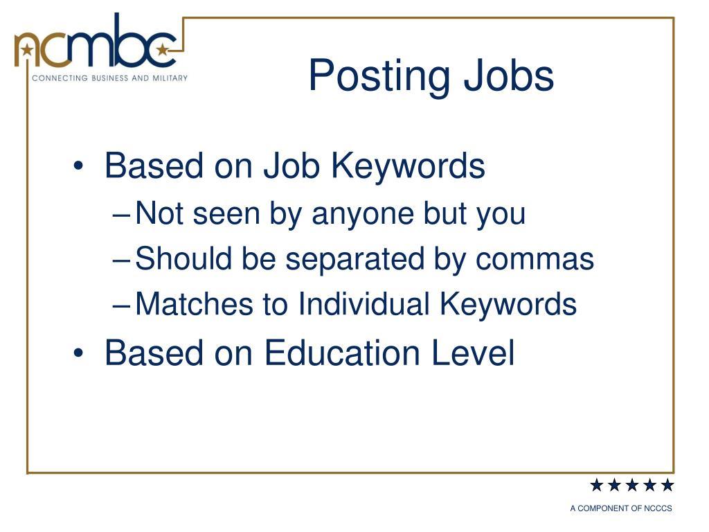 Posting Jobs