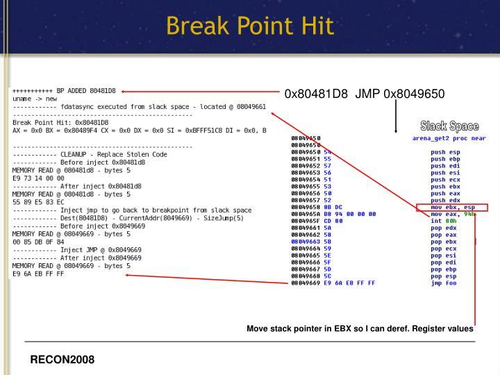 Break Point Hit