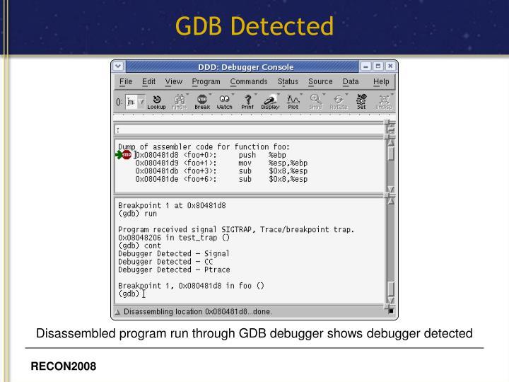 GDB Detected