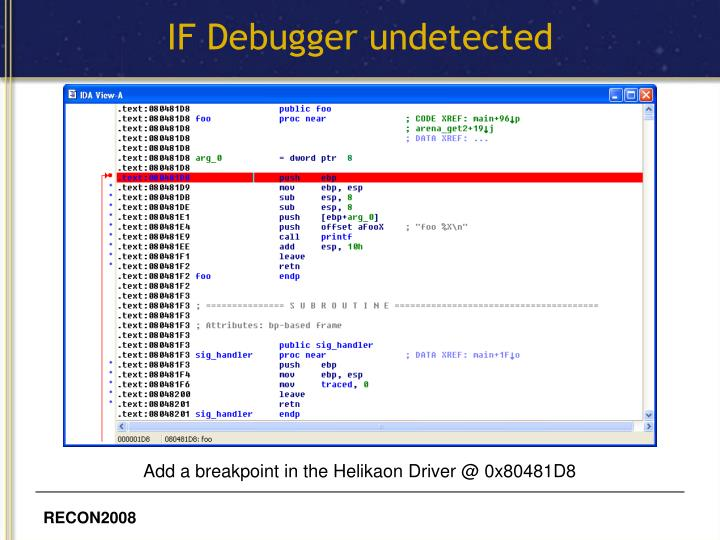 IF Debugger undetected