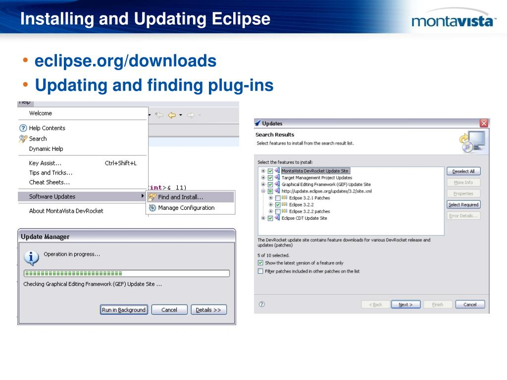 Installing and Updating Eclipse